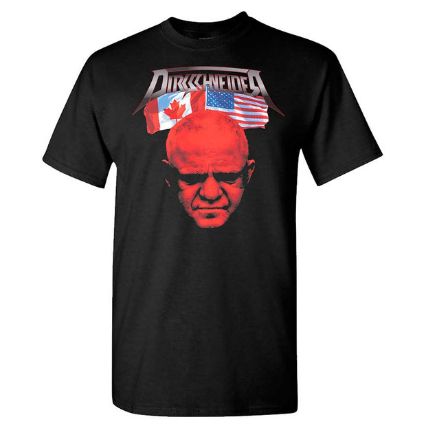 DIRKSCHNEIDER Flags And Tour Dates Black T-Shirt