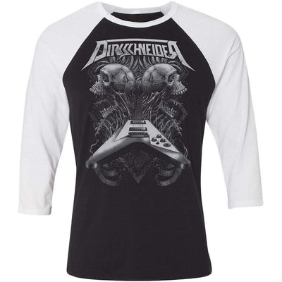 DIRKSCHNEIDER Flying V Black And White Raglan