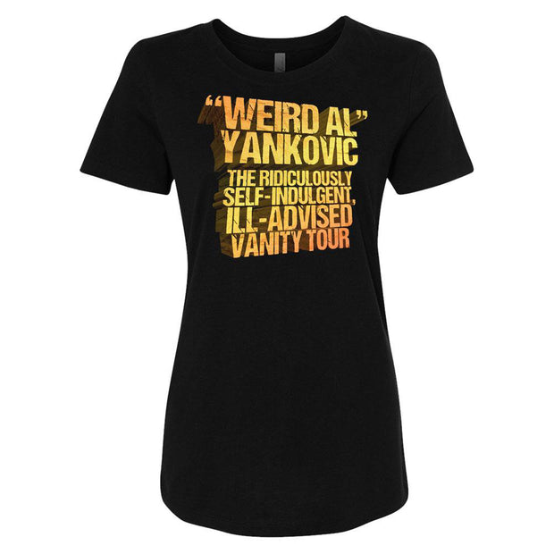 WEIRD AL YANKOVIC 2018 Vanity Tour Official T-Shirt - Women's