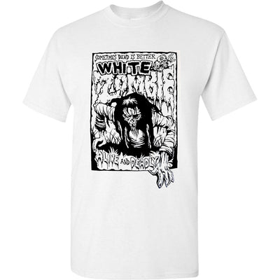 WHITE ZOMBIE Alive and Deadly T-Shirt