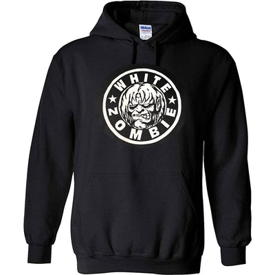 WHITE ZOMBIE Circle Logo Pullover Hoodie