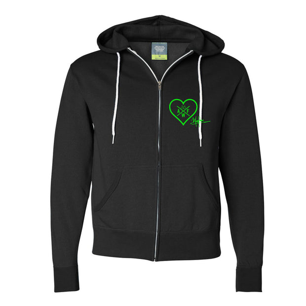 ALIEN FREAKWEAR Alienated As One Zip Hoodie