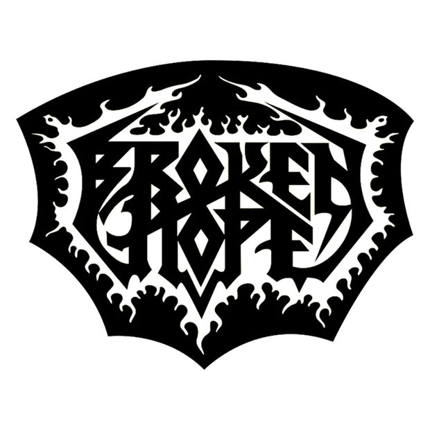 BROKEN HOPE Embroidered Die Cut Logo Patch