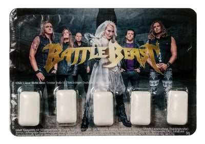 BATTLE BEAST Chewing Gum Blister Pack - 5 Pieces