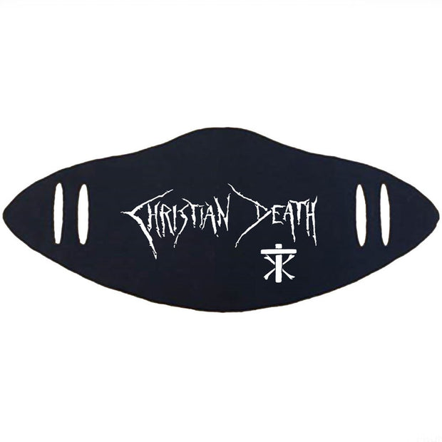 CHRISTIAN DEATH Cross Logo Facemask