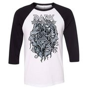 DARK TRANQUILLITY Encircled Logo DT Black & White Raglan