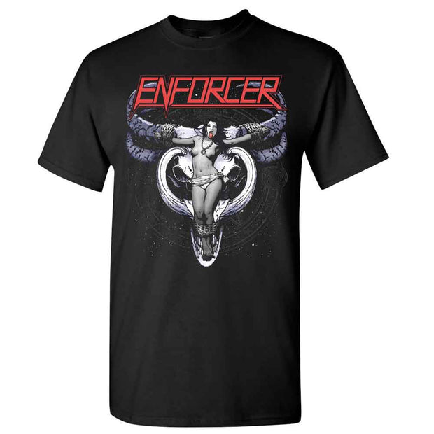 ENFORCER Cow Girl Skull T-Shirt