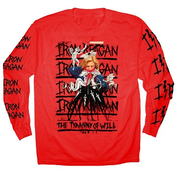 IRON REAGAN Hillary Red Long Sleeve