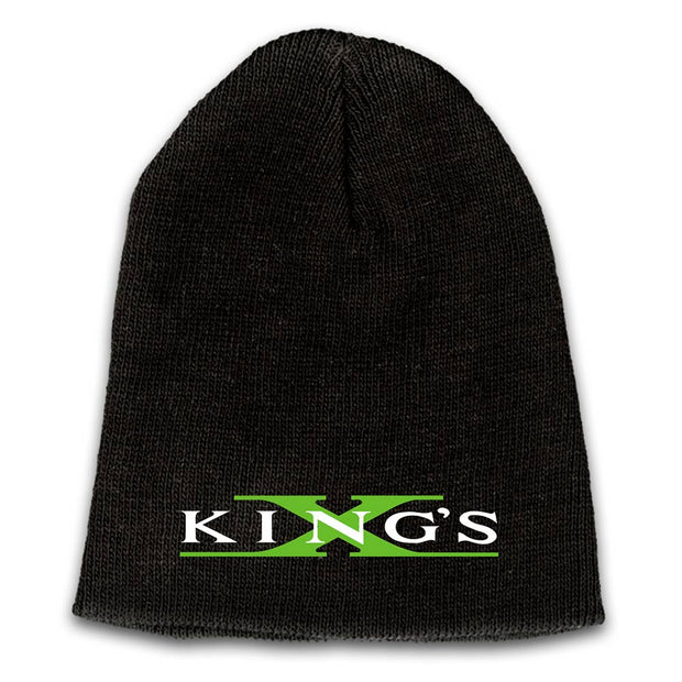 KING'S X Emblem Embroidered Logo Beanie - Green X