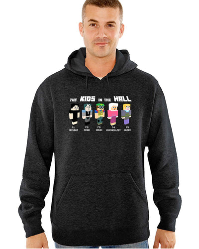 KIDS IN THE HALL Grey Minecraft Characters Pullover Hoodie