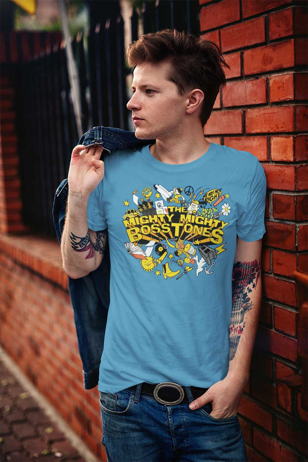 MIGHTY MIGHTY BOSSTONES While We're At It Explosion BlueT-Shirt