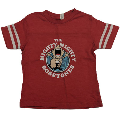 MIGHTY MIGHTY BOSSTONES While We're At It Red Toddler Football Shirt