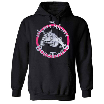THE MIGHTY MIGHTY BOSSTONES Vintage Bulldog Pink Circle Pullover Hoodie