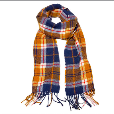THE MIGHTY MIGHTY BOSSTONES Logo On Blue Plaid Scarf