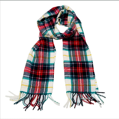 THE MIGHTY MIGHTY BOSSTONES Logo On Red Plaid Scarf