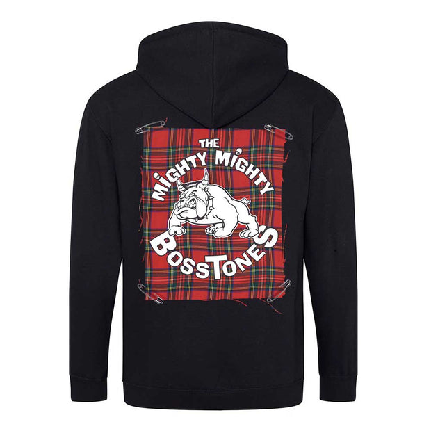 MIGHTY MIGHTY BOSSTONES Plaid Patch Zip Hoodie