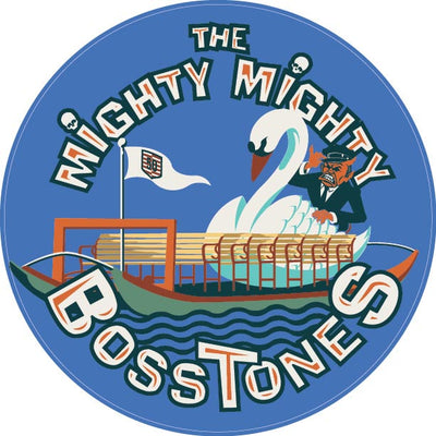 "MIGHTY MIGHTY BOSSTONES Swan Boat 4"""" Sticker"
