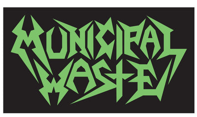 MUNICIPAL WASTE Green Logo Sticker