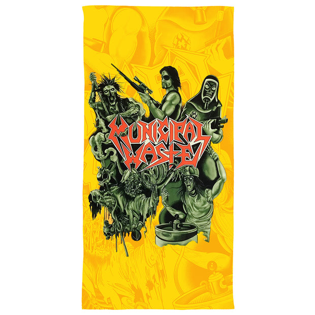 MUNICIPAL WASTE  Sublimated Beach Towel