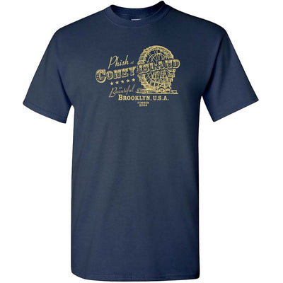 PHISH Coney Island Navy T-Shirt