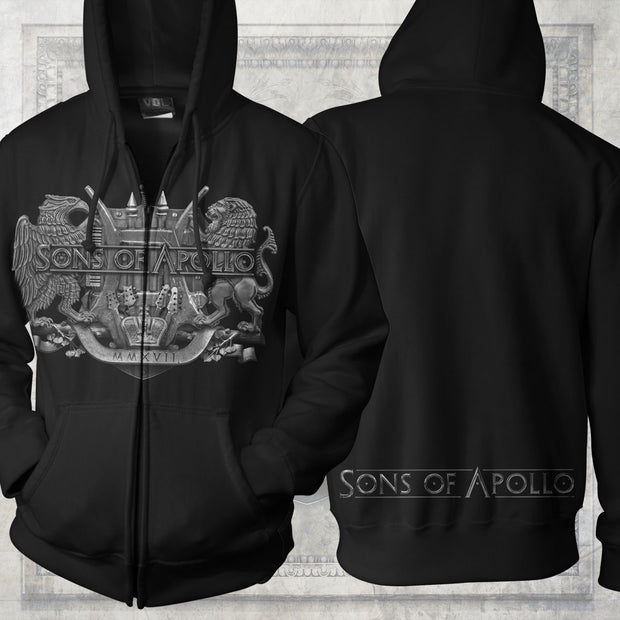 SONS OF APOLLO 'Crest' Zip Hoodie