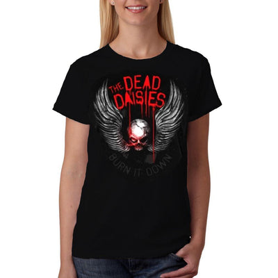 THE DEAD DAISIES Winged Skull Ladies T-Shirt