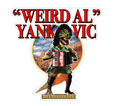"WEIRD AL YANKOVIC Yankosaurus 5"" x 5"" Sticker"