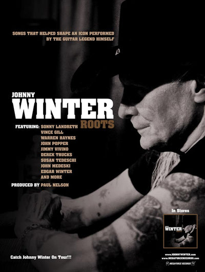 JOHNNY WINTER Roots poster 18x24in