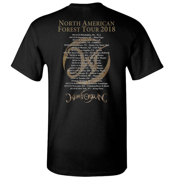 WINTERSUN Forest Seasons Tour 2018 Black T-Shirt