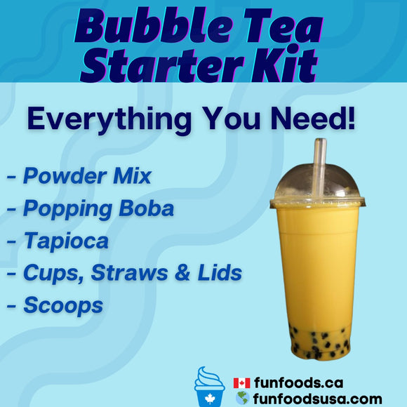Bubble Tea Startup Package - Start Your Own Bubble Tea Store or Add To Your Current Menu