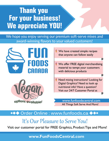 Fun Foods Canada Ice Cream Supplies, Coffee House Supplies, Bubble Tea Supplies