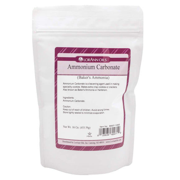 Baker's Ammonia (Ammonium Carbonate) 16 oz. Bag
