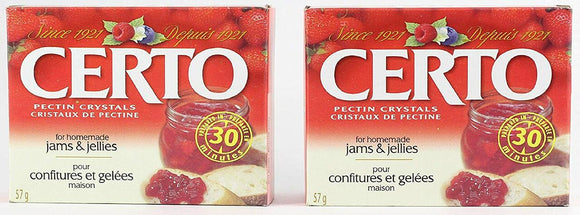 CERTO Pectin Crystals by Kraft for Jams & Preserves, Case 36pk x 57g - Product of Canada
