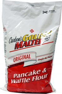 Carbon's Original Waffle and Pancake Mix - Golden Malted Brand - Case (8 x 3.75 lbs)