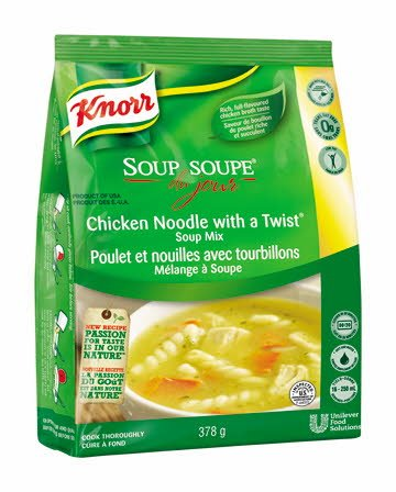Chicken Noodle with a Twist - Knorr Professional Soup Du Jour Mix  4 x 378 gr