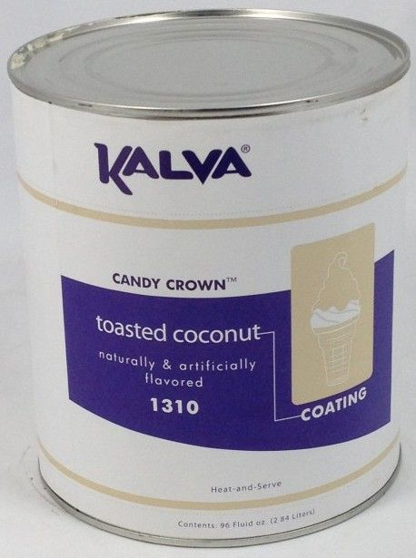 Kalva Toasted Coconut Cone Dip Coating #10 Can - KALVA 1310