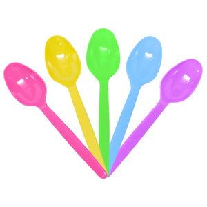Karat PS Heavy Weight Tea Spoons - Rainbow (Mixed Colors)