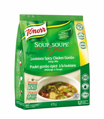 Louisiana Spicy Chicken Gumbo - Knorr Professional Soup Du Jour Mix  4 x 479 gr
