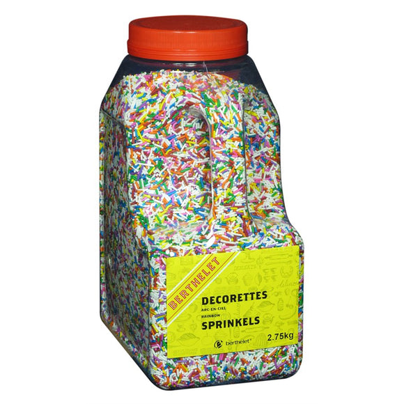 Rainbow Sprinkles Multicolored 2.75 KG Jar