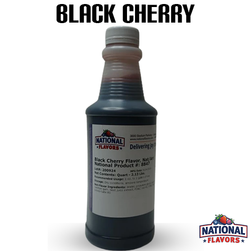 Black Cherry Flavor 32 oz Bottle