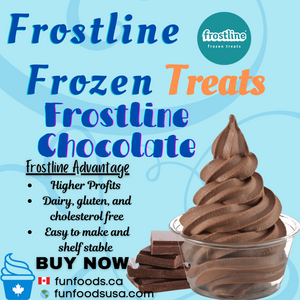 Frostline Chocolate Soft Serve Ice Cream Mix - Made in the USA (6 x 6.0lb bags)