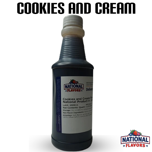 Cookies and Cream Flavor 32 oz Bottle