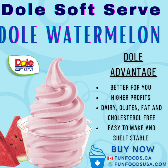 Dole Watermelon Soft Serve Mix - Case (4 X 4.4lb Bags)