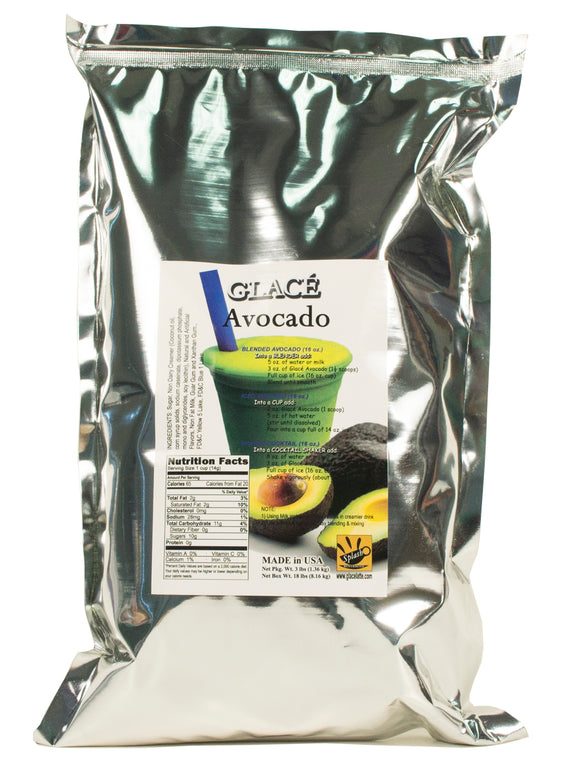 Avocado Bubble Tea / Fruit Smoothie Mix 3.0lb bag