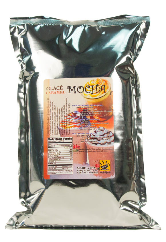 Caramel Mocha Bubble Tea / Latte and Frappe Mix 3.0lb bag