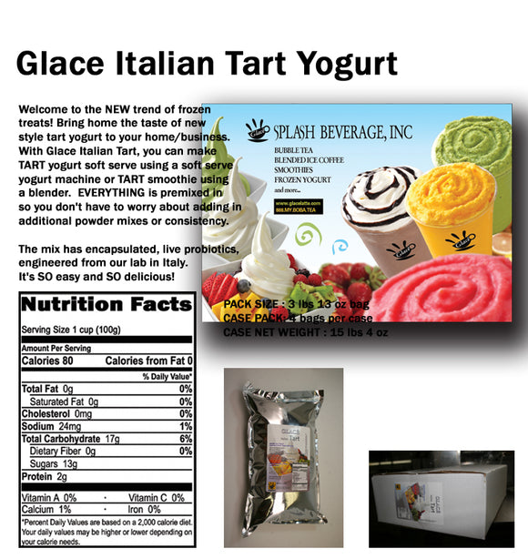 Italian Tart Soft Serve Frozen Yogurt Mix 3.0lb bag
