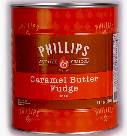 Phillips Caramel Butter Fudge 96oz #10 Can