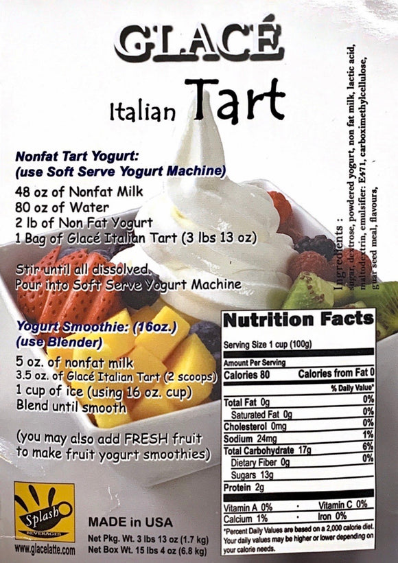 Italian Tart Soft Serve Mix 3.0lb bag