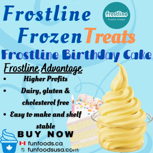 Frostline Birthday Cake Soft Serve Ice Cream Mix - Made in the USA (6 x 6.0lb bags)