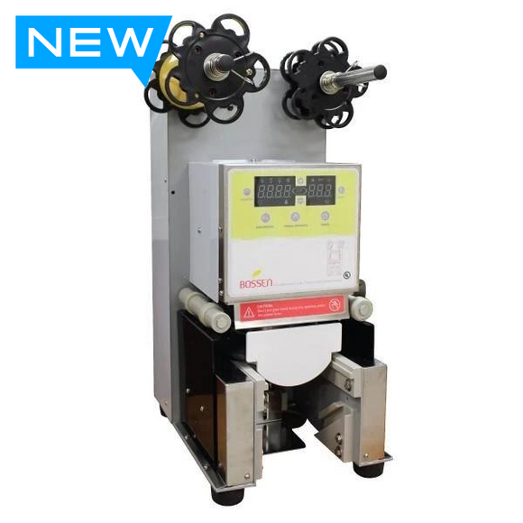 Bubble Tea Cup Sealing Film Machine (Automatic) for 95mm PP Cups (UL Certified)